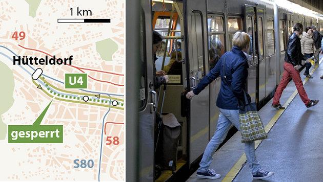 Wiener U4-Sanierung: Teilsperre ab 30. April (Bild: APA-Grafik, APA/Herbert Neubauer)