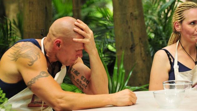 Thorsten und Helena bei der Dschungelprüfung (Bild: RTL)