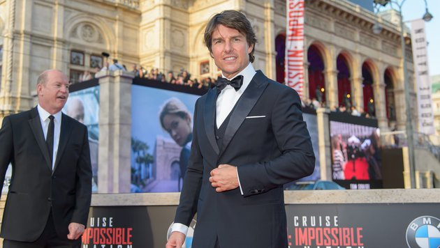 "Tom Cruise bei der ""Mission: Impossible - Rogue Nation""-Premiere vor der Wiener Staatsoper (Bild: Viennareport)"