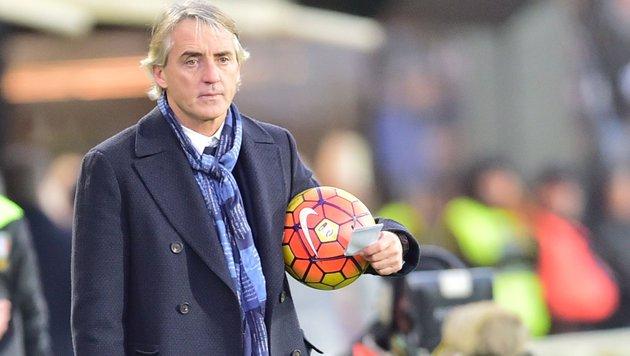 Inter-Coach Roberto Mancini (Bild: APA/AFP/GIUSEPPE CACACE)