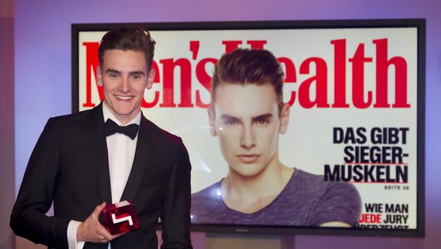 "Fabian gewinnt bei ""Austria""s Next Topmodel"". (Bild: Puls 4)"