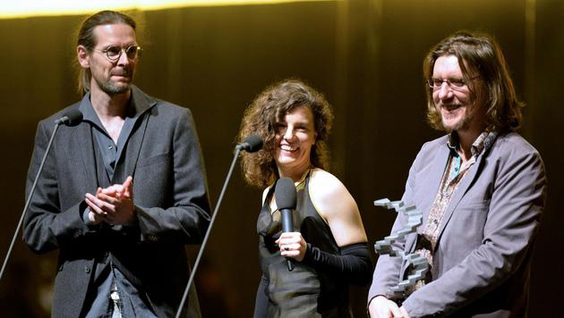 Beste Tongestaltung: Bernhard Maisch, Veronika Hlawatsch und William Edouard Franck (Bild: APA/HERBERT NEUBAUER)