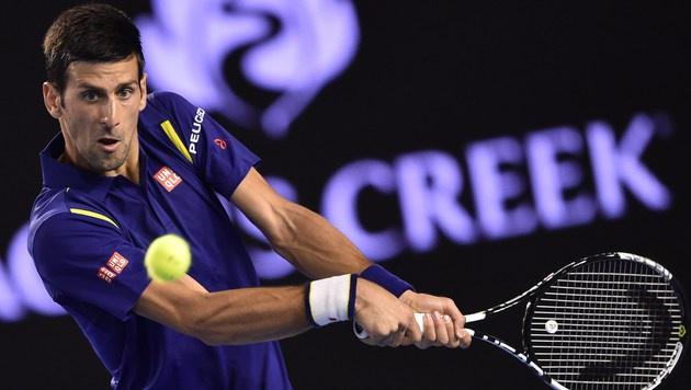 Novak Djokovic weist Manipulationsvorwürfe zurück (Bild: APA/AFP/PETER PARKS)