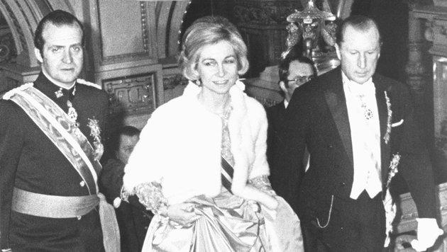 1978 - Spaniens König Juan Carlos I. und seine Gattin Sophia sind zu Gast. (Bild: Krone)