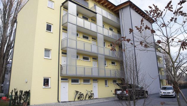 In diesem Wohnhaus in Graz stach der 19-Jährige auf sein Opfer ein. (Bild: APA/ERWIN SCHERIAU)