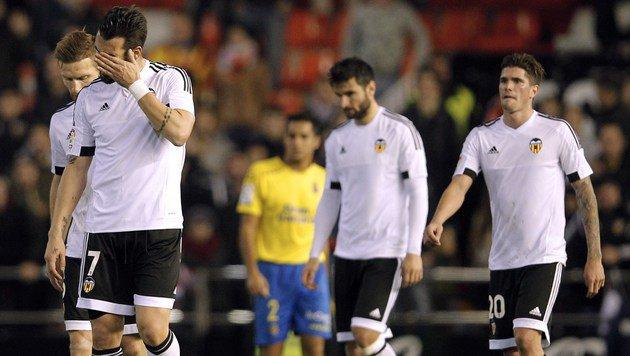 Rapid-Gegner Valencia enttäuscht auch im Cup (Bild: Jose Jordan)