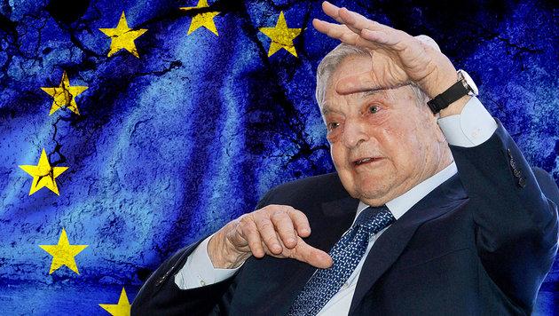 """""""Die EU wird wegen der Flüchtlingskrise zerfallen"""" (Bild: AFP, thinkstockphotos.de)"""