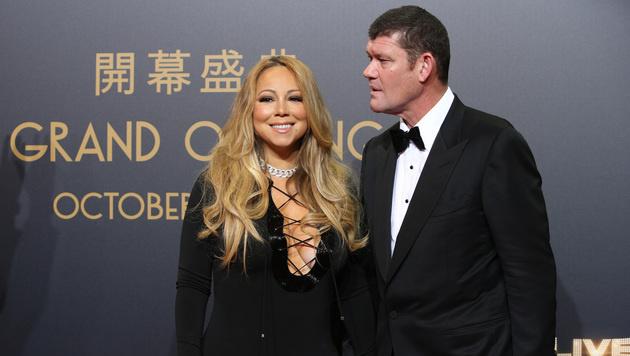 Mariah Carey und ihr Verlobter James Packer (Bild: AP)