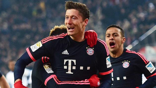 Lewandowski zu Real? Für Bayern absolut kein Thema (Bild: AFP)