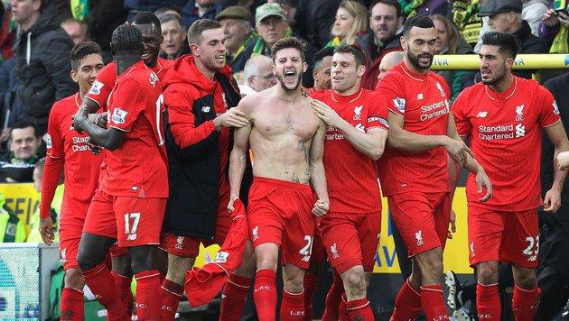 Liverpools Adam Lallana (Bild: APA/AFP/LINDSEY PARNABY)