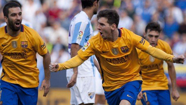 Video: Messi mit Traum-Seitfallzieher, Barca siegt (Bild: AFP)