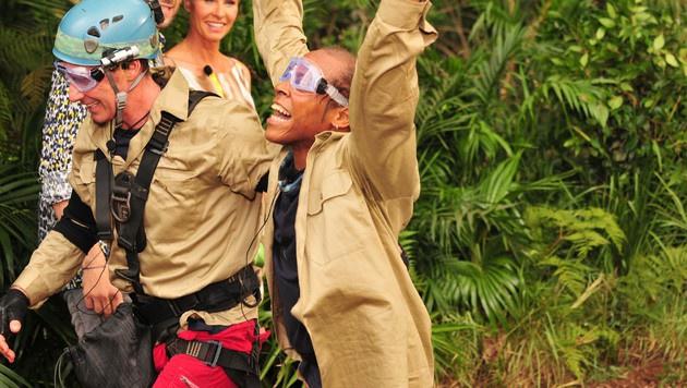 Jürgen und Ricky haben bei der Dschungelprüfung alle Sterne erkämpft. (Bild: RTL)