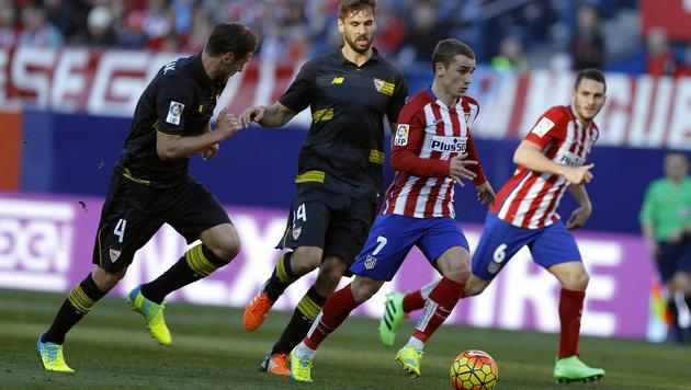 Atletico verpasst Platz 1, Real Madrid nur 1:1 (Bild: AP)