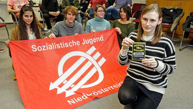 So probt die SPÖ-Jugend für Akademikerball-Demo (Bild: Reinhard Holl)