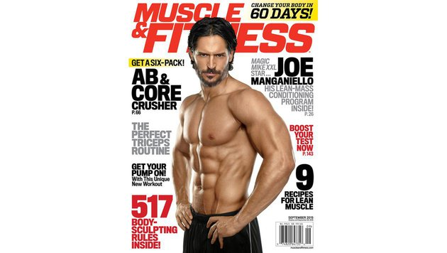 Joe Manganiello ist so gut in Form, dass er regelmäßig US-Fitnessmagazine ziert. (Bild: Viennareport)