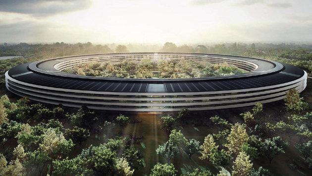 Apples neuer Campus soll bis voraussichtlich Ende des Jahres in Cupertino fertiggestellt werden. (Bild: Apple)