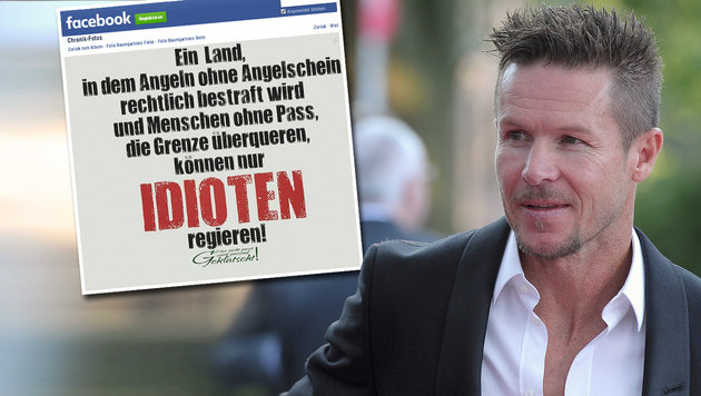 Felix Baumgartner l�stert �ber Asylpolitik (Bild: facebook.com/FelixBaumgartner, dpa)