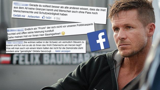 "Nach ""Idioten""-Posting: Kalt-warm für Baumgartner (Bild: APA/BARBARA GINDL, facebook.com)"