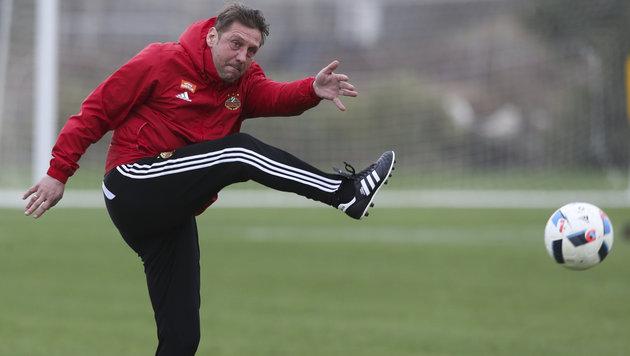 Rapid-Coach Barisic tritt auf die Notbremse (Bild: GEPA)