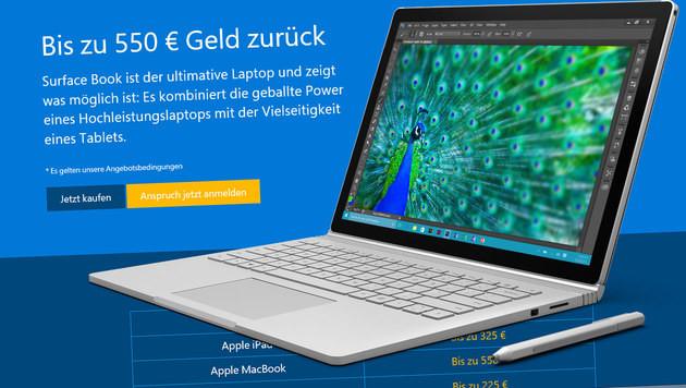 Surface Book: Eintausch-Prämie für alte Geräte (Bild: Microsoft)