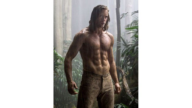 "Heiß! Alexander Skarsgard in einem Filmfoto aus ""The Legend of Tarzan"" (Bild: Viennareport)"