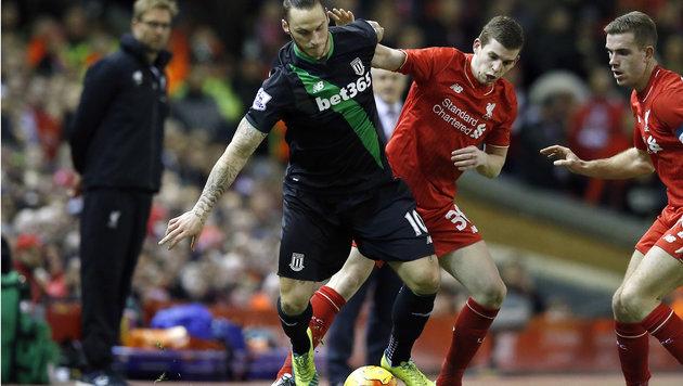 Arnautovic-Tor für Stoke gegen Liverpool zu wenig (Bild: AP)