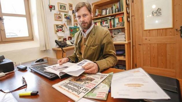 Lässt sich nicht von radikalen Tierschützern einschüchtern: Max Mayr-Melnhof erstattet Anzeige. (Bild: Markus Tschepp)