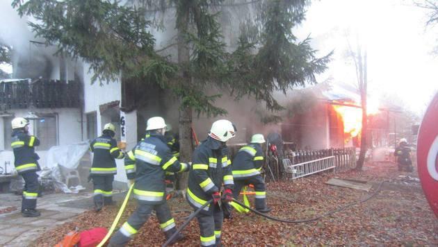 72-Jähriger kam bei Wohnhausbrand ums Leben (Bild: FF Ferlach)