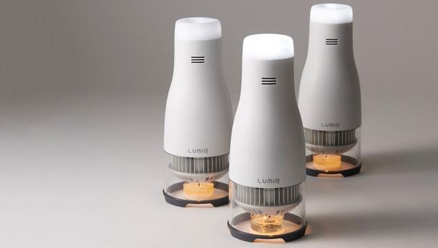 """LED-Lampe """"Lumir"""" läuft mit Teelicht (Bild: Lumir)"""