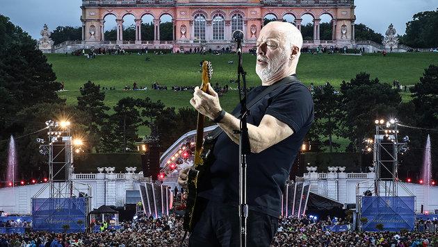 David Gilmour: Eine Legende vor Schloss Schönbrunn (Bild: APA/EPA/Mario Ruiz, ORF first look)