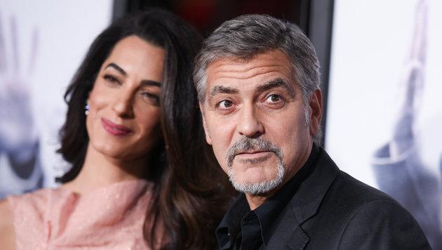 Amal und George Clooney (Bild: Richard Shotwell/Invision/AP)