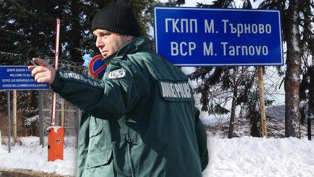 Ein Beamter im bulgarischen Grenzgebiet (Bild: Christoph Matzl)