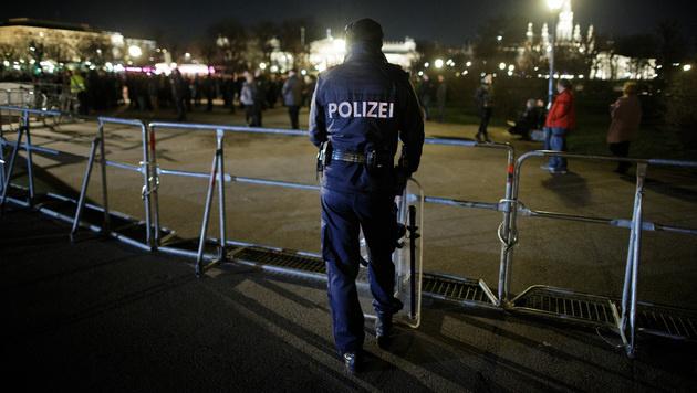 Akademikerball-Demos legten Wiener Innenstadt lahm (Bild: APA/GEORG HOCHMUTH)