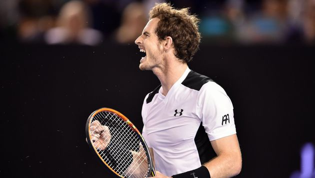 Andy Murray nach Sieg über Milos Raonic im Finale (Bild: APA/AFP/PETER PARKS)