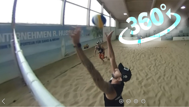 Beachvolleyball-Stars Doppler/Horst in 360 Grad (Bild: sportkrone.at)