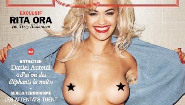 """Rita Ora zeigt sich oben ohne am Cover des """"Lui""""-Magazins. (Bild: www.instagram.com/ritaora)"""