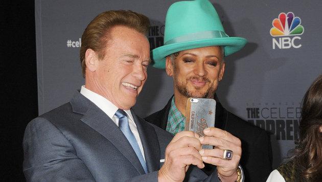 Boy George und Arnold Schwarzenegger (Bild: Viennareport)