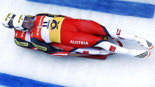 Peter Penz/Georg Fischler (Bild: AP)