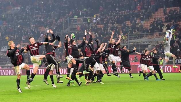 AC Milan zerlegt Inter Mailand im Derby mit 3:0 (Bild: AFP or licensors)