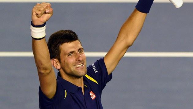 Djokovic triumphiert bei den Australian Open (Bild: APA/AFP/GREG WOOD)