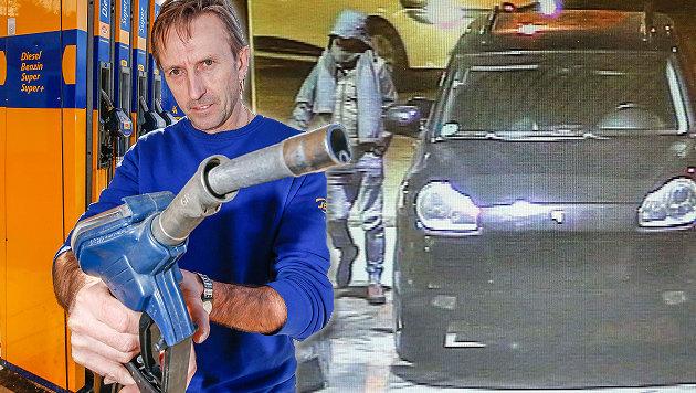 Walter Zischg ist verzweifelt, immer wieder sucht ihn der Tankbetrüger mit dem Porsche (re.) heim. (Bild: Markus Tschepp)