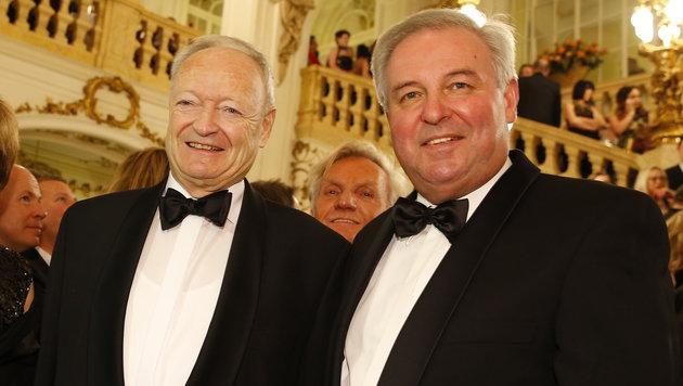 Andreas Khol und Landeshauptmann Hermann Schützenhöfer (Bild: APA/ERWIN SCHERIAU)