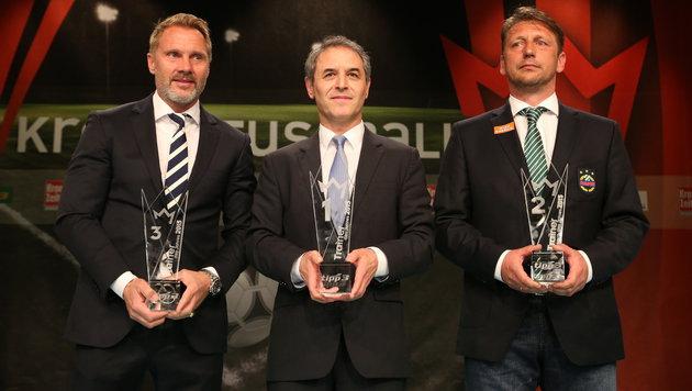 Die Top 3 bei den Trainern: Thorsten Fink, Marcel Koller und Zoran Barisic (Bild: Gerhard Gradwohl)