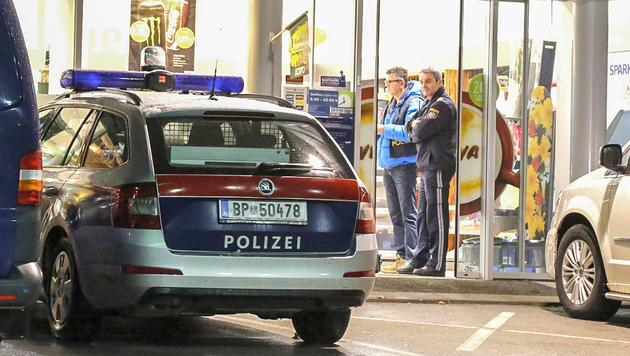 Tatort Tankstelle: Hier schlugen die Räuber zu. (Bild: MARKUS TSCHEPP)