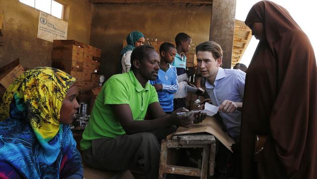 Sebastian Kurz auf Besuch in Äthiopien (Bild: APA/BMEIA/DRAGAN TATIC)