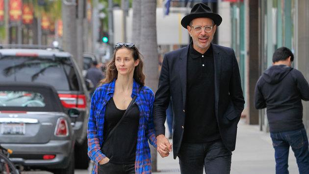 Jeff Goldblum und seine Frau Emilie Livingston (Bild: Viennareport)