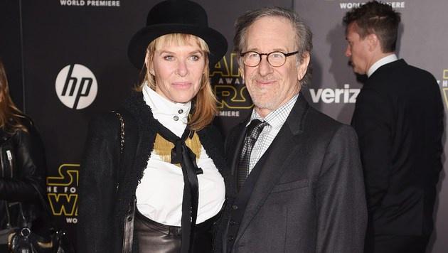 Steven Spielberg und Kate Capshaw (Bild: APA/AFP/GETTY IMAGES/Jason Merritt)