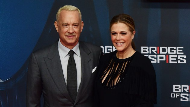 Tom Hanks mit Ehefrau Rita Wilson (Bild: AFP)