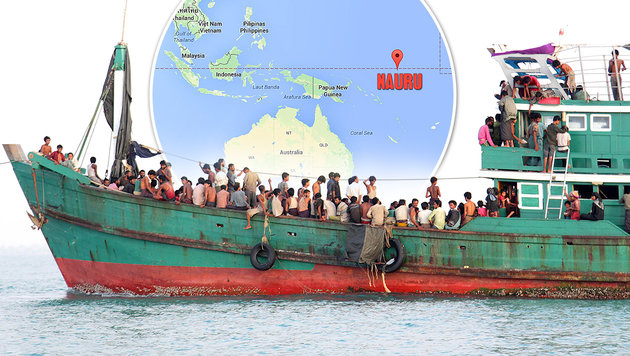 Australien schiebt Hunderte Migranten auf Insel ab (Bild: Screenshot Google Maps, AFP)