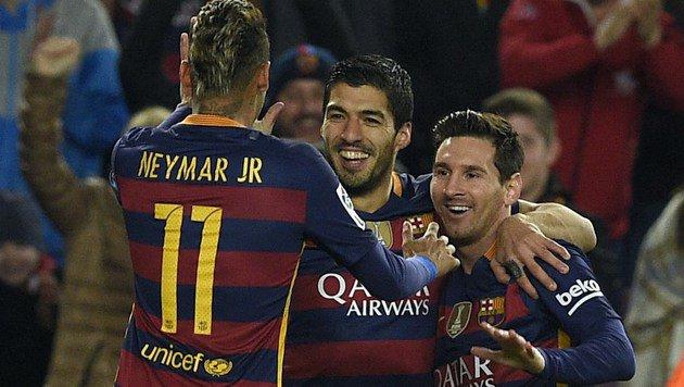 Barcelona zerballert Rapids EL-Gegner Valencia 7:0 (Bild: AFP)